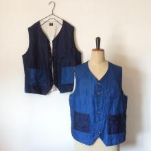 DjangoAtour/authentic made/ DA FARMERS INDIGO VEST