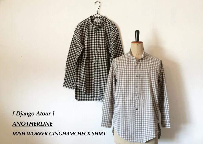 Django Atour / ANOTHERLINE / IRISH WORKER GINGHAMC SHIRT
