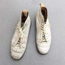 Vintage / 40's~50's UK / White Sports Boots