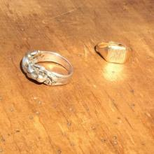 Vintage / 50's Netherlands / Rings of silver&gold