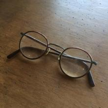 Vintage/ Used/ 30's French / Round Reading Glasses