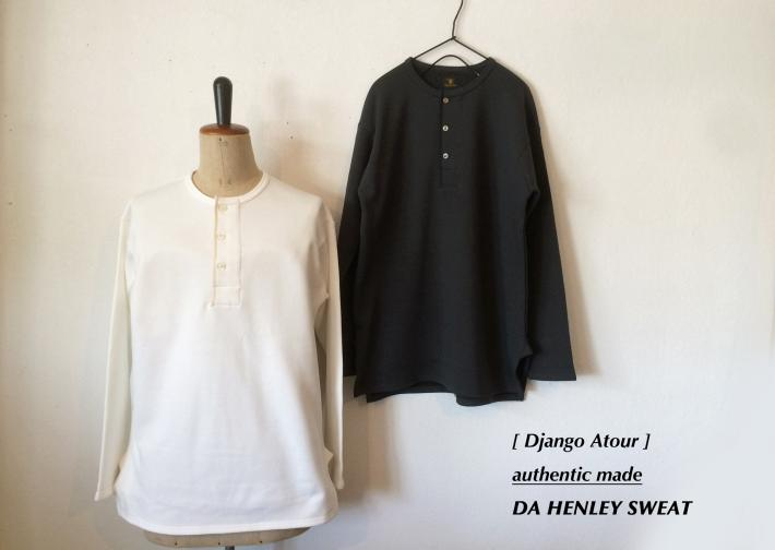 Django Atour / authentic made / DA HENLEY SWEAT