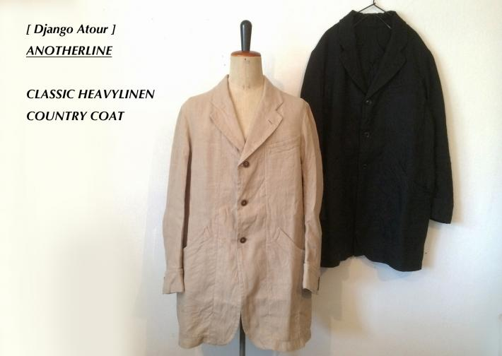 Django Atour / ANOTHERLINE / CLASSIC HEAVYLINEN COUNTRY COAT