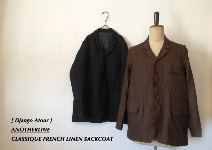 Django Atour / ANOTHERLINE / CLASSIQUE FRENCH LINEN SACKCOAT