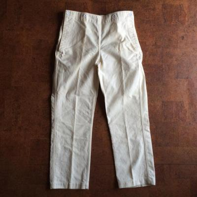 Vintage/Deadstock/40's U.S.NAVY/Cotton linen pants