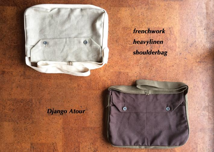 Django Atour / frenchwork heavylinen shoulderbag