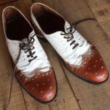 Used / MYRYS / wingtip medallion combi shoes
