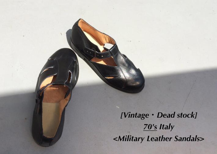 Vintage / Deadstock / 70's Italy / Military Leather Sandals