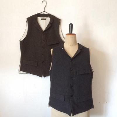 Django Atour / ANOTHERLINE / TWEED FROCK VEST