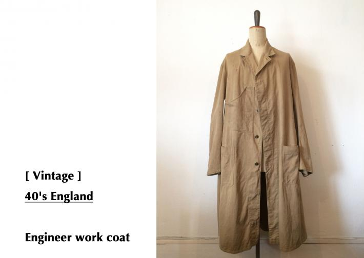 Vintage / 40's England / Engineer work coat
