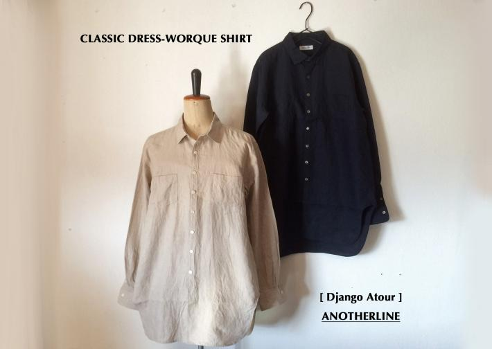 Django Atour / ANOTHERLINE / CLASSIC DRESS-WORQUE SHIRT
