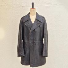 Vintage / Used / 50's France / Leather car coat